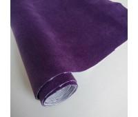 Велюр микро с фактурой полоска, цвет темно-лиловый, 25-35 см