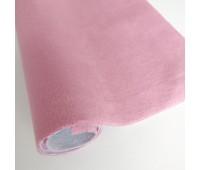 Велюр микро с фактурой полоска, цвет розовый, 25-35 см