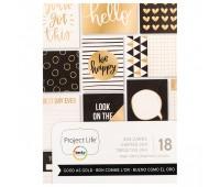 Набор карточек с фольгированием золото Good as Gold, Project Life